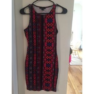 FOREVER 21 bodycon tribal dress